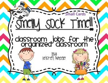 Smelly Sock Time: Classroom Jobs for the Organized Teacher- small cards