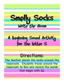 Letter S: Smelly Socks Write the Room