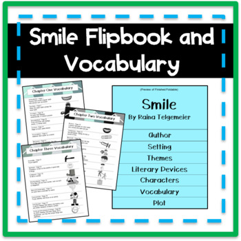 Smile Flipbook and Vocabulary Cards