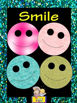 Glitter Clip Art - World Smile Day