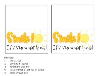 Smile It's Summer Gift Tags