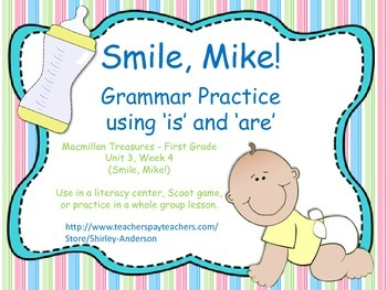 Smile, Mike!  Using 'is' and 'are' verbs