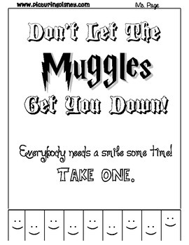Don't Let the Muggles Get You Down Smile Printable Wall Sign