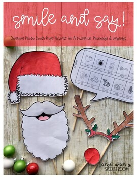 Smile & Say for Christmas: NO PREP Speech Therapy Activity