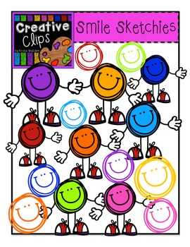 Smile ToT Sketchies {Creative Clips Digital Clipart}