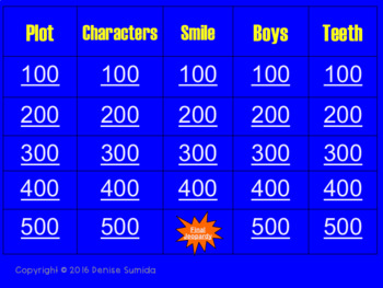 Smile by Raina Telgemeier Jeopardy