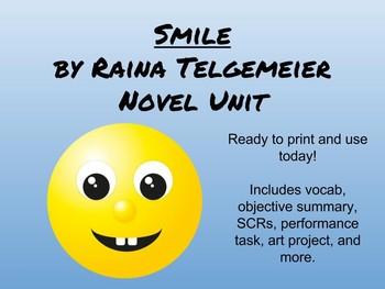 Smile by Raina Telgemeier Common Core Unit