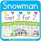 Get 3 for 2: Snowmen