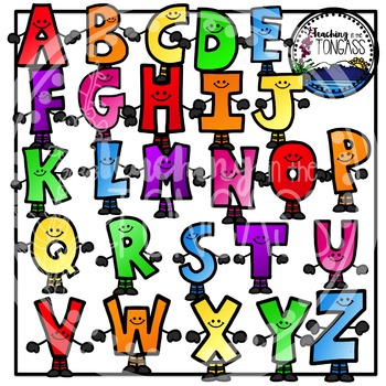Smiley Alphabet Clipart Bundle