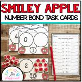 Smiley Apple Number Bond Task Cards 1-10 Center