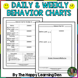 Daily and Weekly Smiley Face Behavior Chart