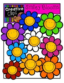 Smiley Blooms {Creative Clips Digital Clipart}