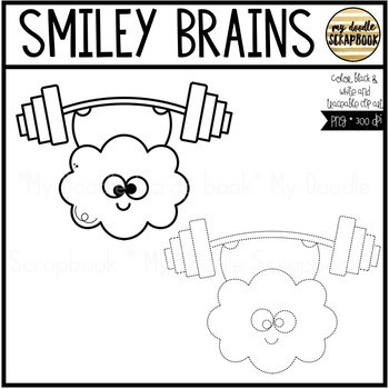 Smiley Brains (Clip Art for Personal & Commercial Use)