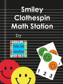 Smiley Clothespin Math Station