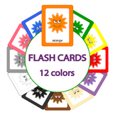 Smiley Color Flash Cards - 12 colors