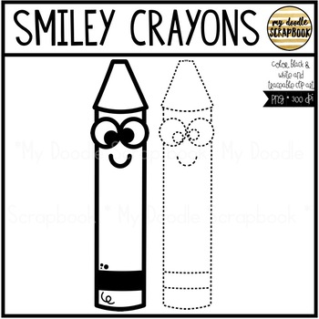 Smiley Crayons (Clip Art for Personal & Commercial Use)