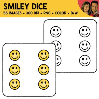 Smiley Face Dice Clipart