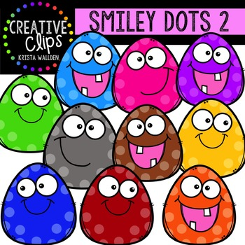 FREE Smiley Dots 2 {Creative Clips Digital Clipart}