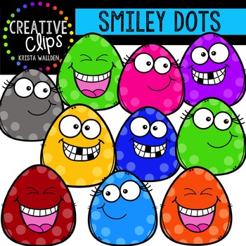 FREE Smiley Dots {Creative Clips Digital Clipart}