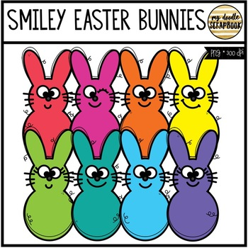 Smiley Easter Candy Bunnies (Clip Art for Personal & Commercial Use)