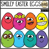 Smiley Easter Eggs (Clip Art for Personal & Commercial Use)