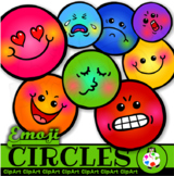 Smiley Emoji Circle Face Clip Art Shapes