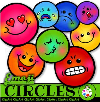 Smiley Emoji Circle Face Clip Art Shapes