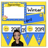 Smiley / Emoji Theme Calendar Cards and Bunting