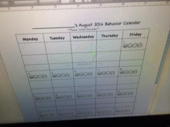 Smiley Face Behavior Calendars August 2014-July 2015
