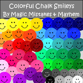Smiley Face Clip Art- Chalk Style Design. Over 50 Colors!