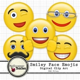 Smiley Face Clip Art Emoji Digital Clipart Color