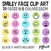 Smiley Face Clip Art, Emoticon Clip Art -- Happy, Sad, Laughing, Angry, Worried