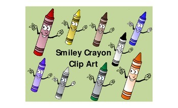 Smiley Face Crayon Clip Art