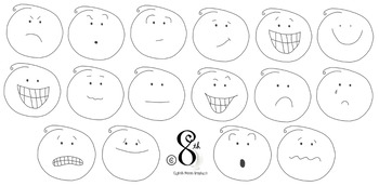 Hand Drawn Smiley Face Emotions