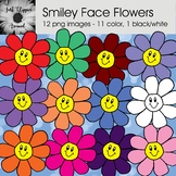 Smiley Face Flowers Clip Art
