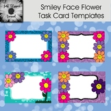 Smiley Face Flowers Task Card Templates