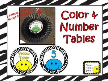 Smiley Face, Happy Face Table Numbers