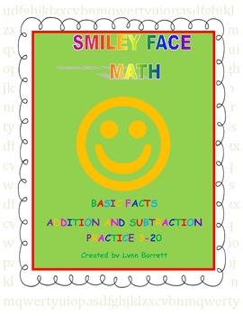 Smiley Face Math Fact Families