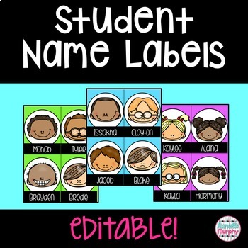 Smiley Face Name Tags and Labels Editable