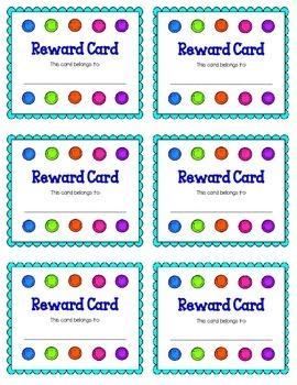 Smiley Face Reward Card FREEBIE