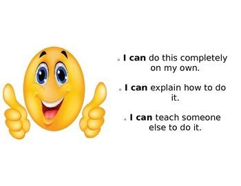 Smiley Face Self Assessment