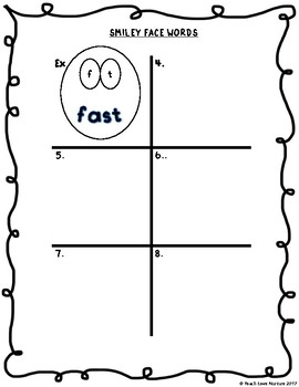 Smiley Face Spelling Activity {For ANY LIST} Grades 1-6