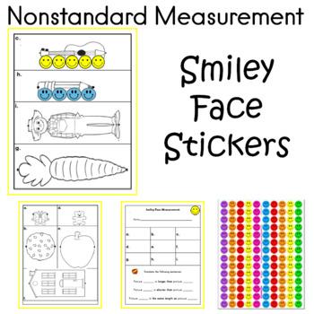 Smiley Face Sticker Nonstandard Measurement Center