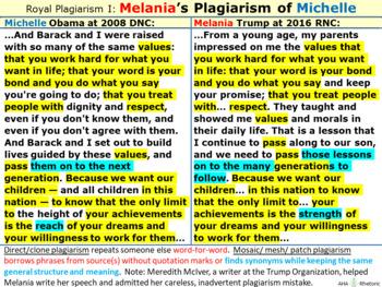 "Royal Plagiarism: Melania Trump ""borrows"" from Michelle Obama"