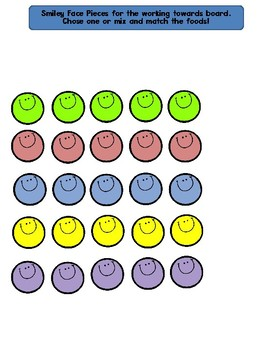 Smiley Face Working Towards 1-5 Visual Reinforcement Board