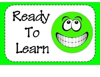 Smiley Faced Themed Behavior Chart