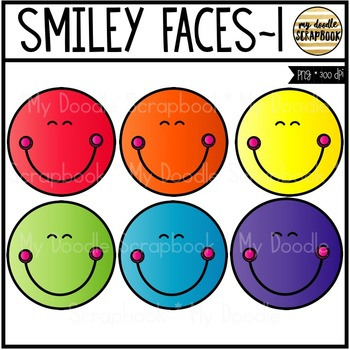 Smiley Faces FREEBIE (Clip Art for Personal & Commercial Use)