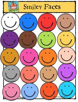 Smiley Faces {P4 Clips Trioriginals Digital Clip Art}