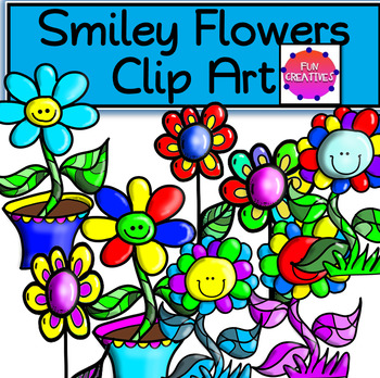 Smiley Flower Clip Art