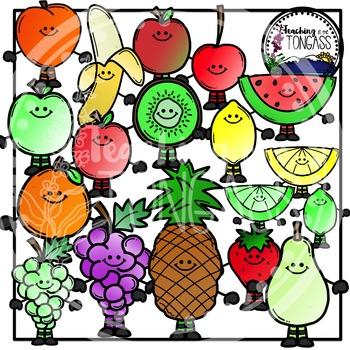 Fruit Clipart (Smiley Version)